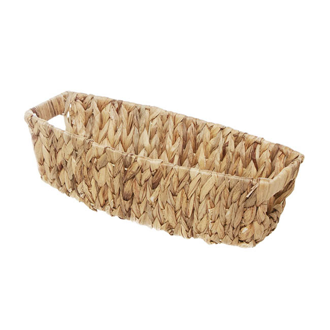 Hamper Tray & Gift Basket - Water Hyacinth Basket Boat Natural (36x18.5x10cmH)