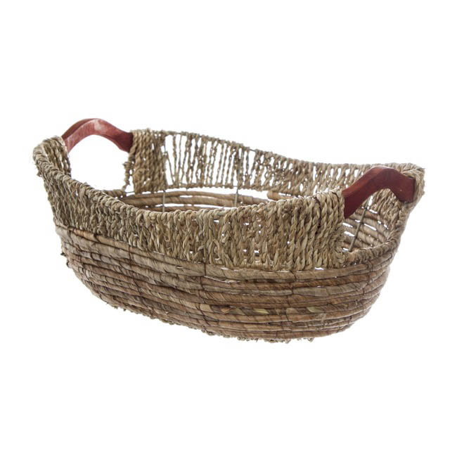 Hamper Tray & Gift Basket - Premium Seagrass Tray Oval Large (40x33x13cmH)