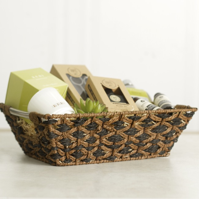 Hamper Tray & Gift Basket - Two Tone Paper Tray Rectangle Small (33x24x10cmH)
