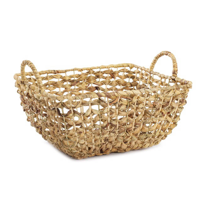 Baskets with Handles - Premium Seagrass Large Rect. Hamper (38x32x18cmH)