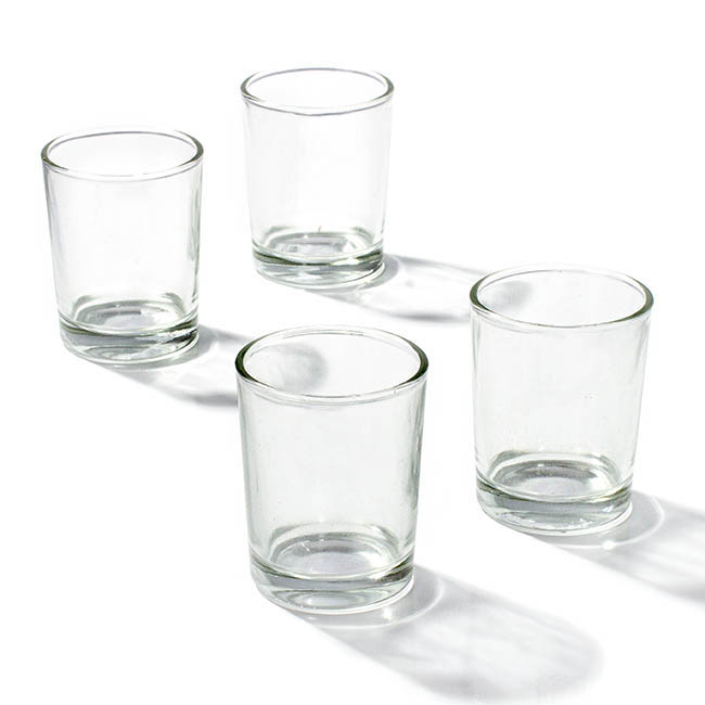 Candle Holders - Glass Votive Candle Holder Cylinder Clear (5x6cmH)