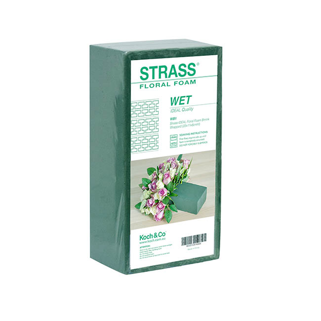 Strass IDEAL Floral Foam Shrink Wrapped (23x11x8cmH)