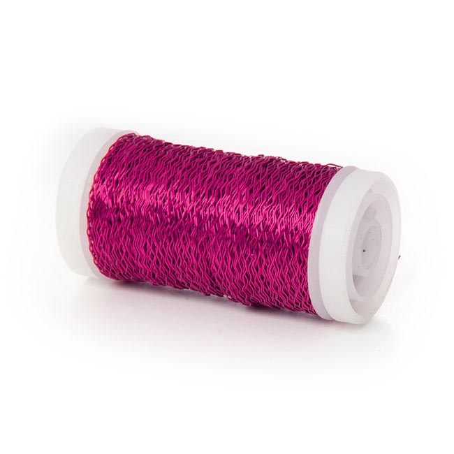 Wire Bouillon Effect 0.35mm 45m 28 gauges Hot Pink