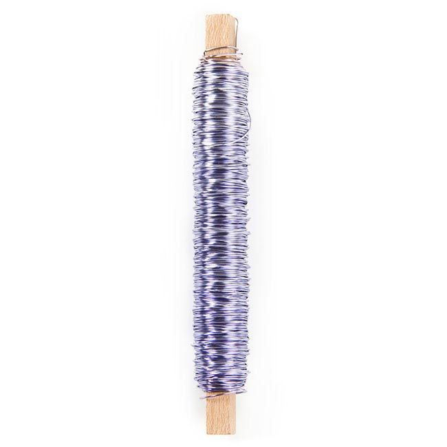 Painted Metallic Wire 0.55mm x 50m on Stick 100g Lilac