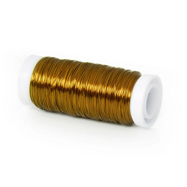 Wire Shiny 0.35mmx132m 100g Spool Gold