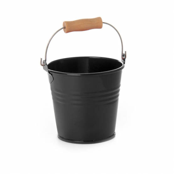 Tin Bucket Bambino Black 8dx7cmh