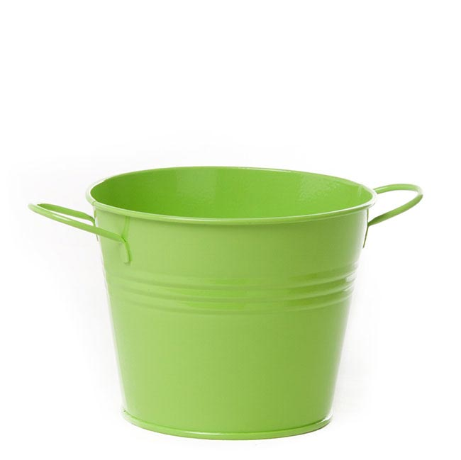 Tin Buckets Pail side handles - Tin Bucket side Handles Lime (15.5Dx12cmH)