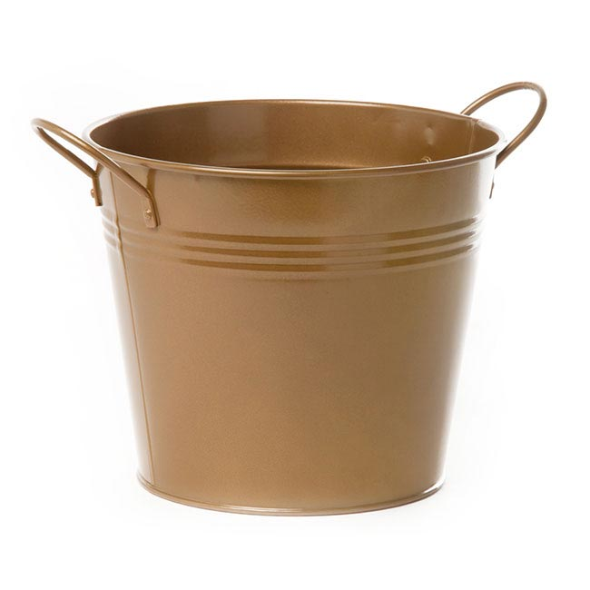 Tin Buckets Pail side handles - Tin Bucket side Handles Brass Gold (18Dx15cmH)