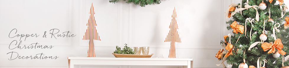 Copper & Rustic Christmas Decorations